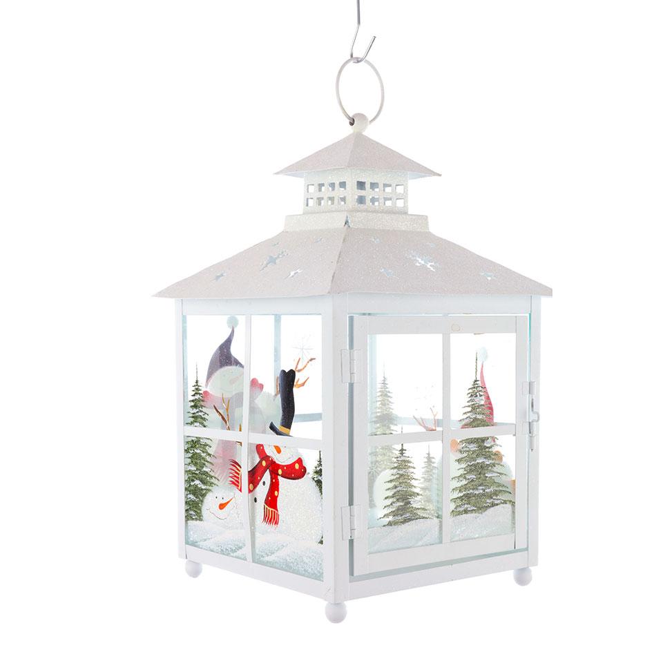 White Christmas Lantern - Park Christmas Savings 2018
