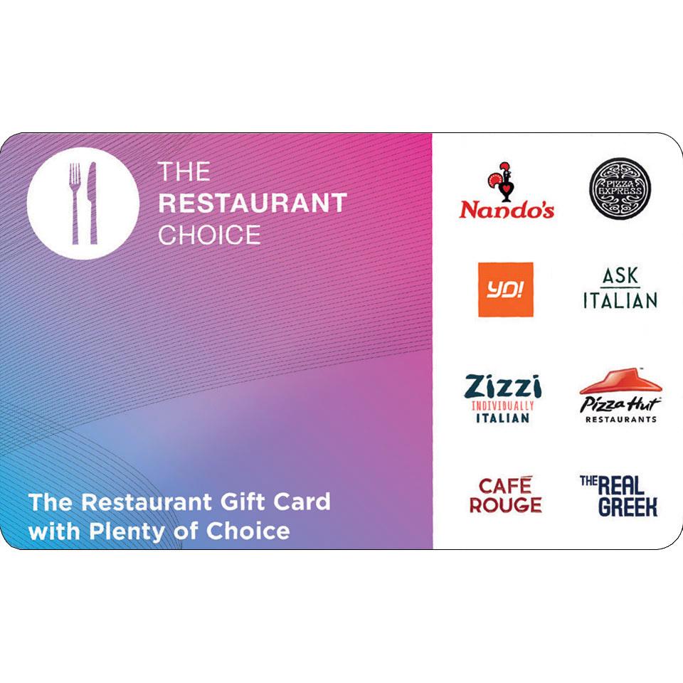 50 Restaurant Choice Gift Card